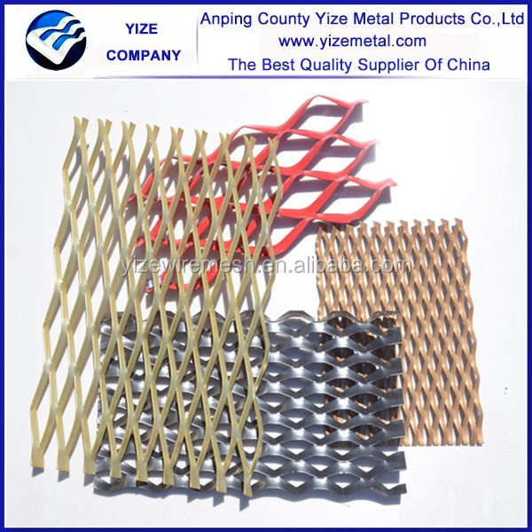 Hot dip Galvanized expanded metal/Facades decorative metal mesh/Electro galvanized expanded wire mesh