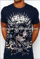 Free shipping! ED Hardy men's O-neck tshirts(accept paypal)