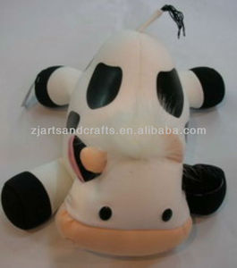 Microbeads stuffing toys soft bean toy cow