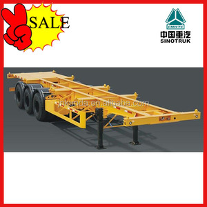 PROMOTION!!! 3 axle skeleton semi trailers for 40ft and 20ft container transport