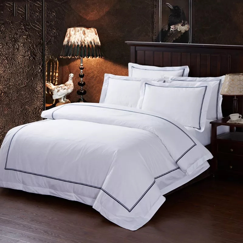 Wholesale 100% Cotton Embroidery Hotel Bed Linen Sets
