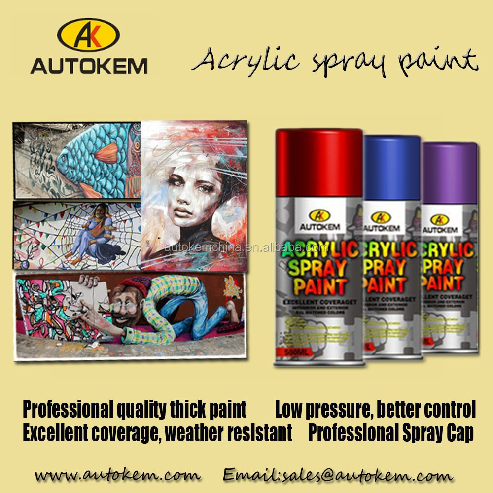 Factory Manufacturing Acrylic Lacquer Car Auto Paint Spray Paint ...