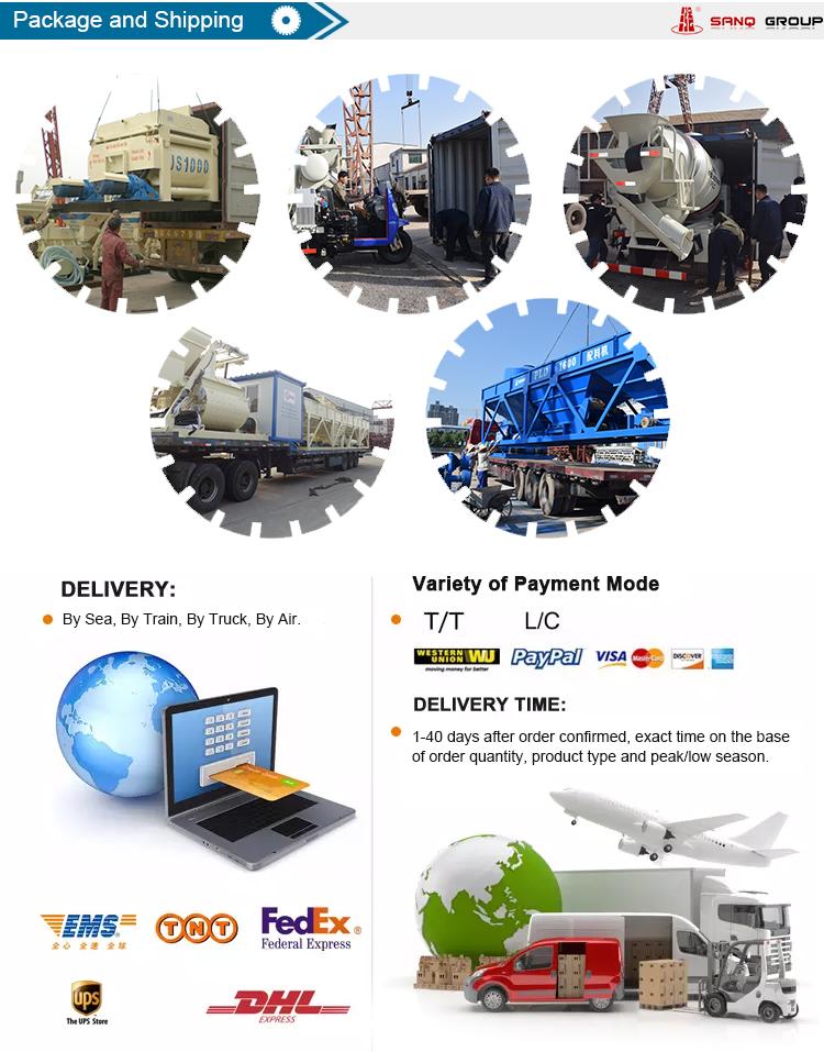 China sanqgroup completamente automática HZS180 planta de mezcla de hormigón en venta