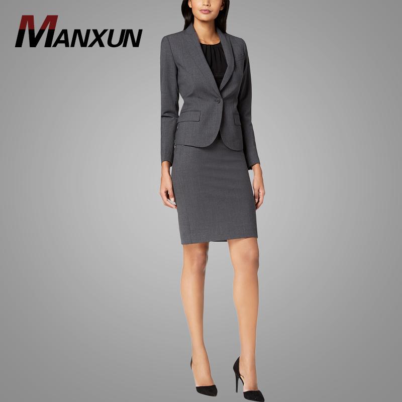 09d77d55e3cc Высокое качество брюки и юбка женская Костюм Установить Slim Fit деловая ...
