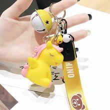 Мультфильм лошадь животное детская игрушка брелок для женщин девушка брелок металлические брелки для ключей ключи от машины сумка Подвеск...(Китай)