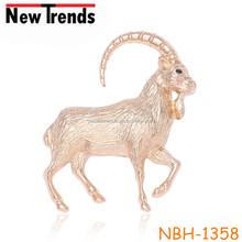 Fancy sheep simple design alloy animal pin brooch, cheap alloy sheep brooches