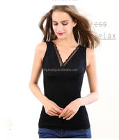 Hot selling blackwarm thicker knitted bamboo body shaper in stock