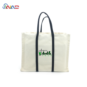 Wholesale best selling custom printed trade show heavy canvas reusable tote bags