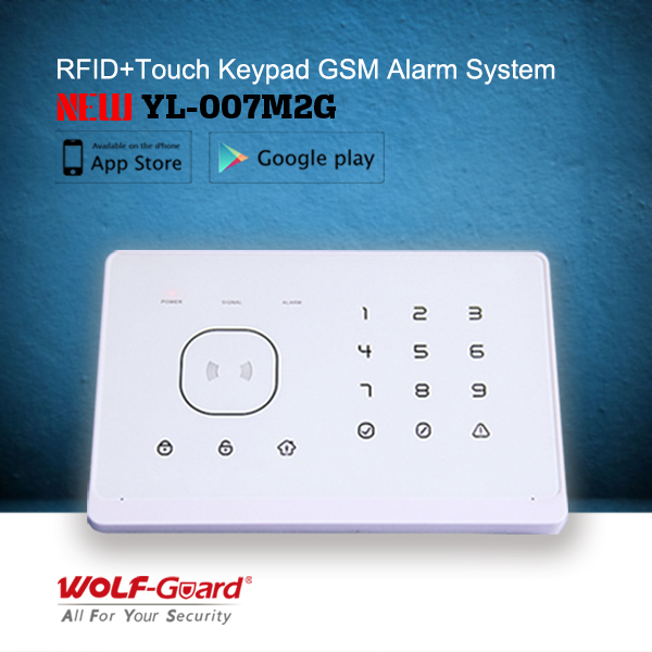 Hot Selling GSM Alarm System YL-007M2G With APP And RFID Tags