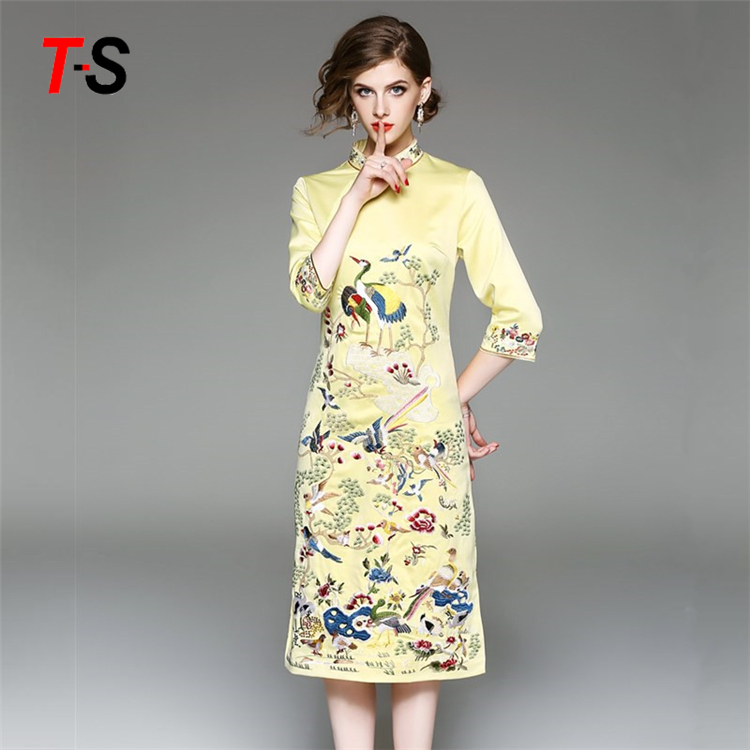 Cheongsam Ethnique Style Traditionnel Chinois Robe