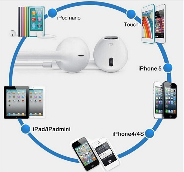 Бренд в наушники-вкладыши мобильного телефона fone де ouvido наушники для Iphone 5S 5 полезная для Apple , с микрофоном Eaphone гарнитура геймер