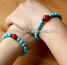 New Vintage Natural Fashion Turquoise Agate Beads Bracelets for Lovers