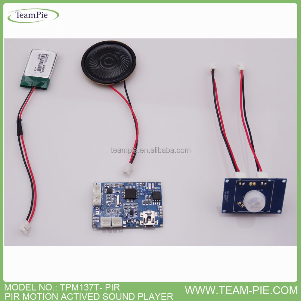 MOTION ACTIVED SOUND MODULE , MP3 SOUND MODULE WITH PIR SENSOR , USB DOWNLOAD MP3 SOUND MODULE
