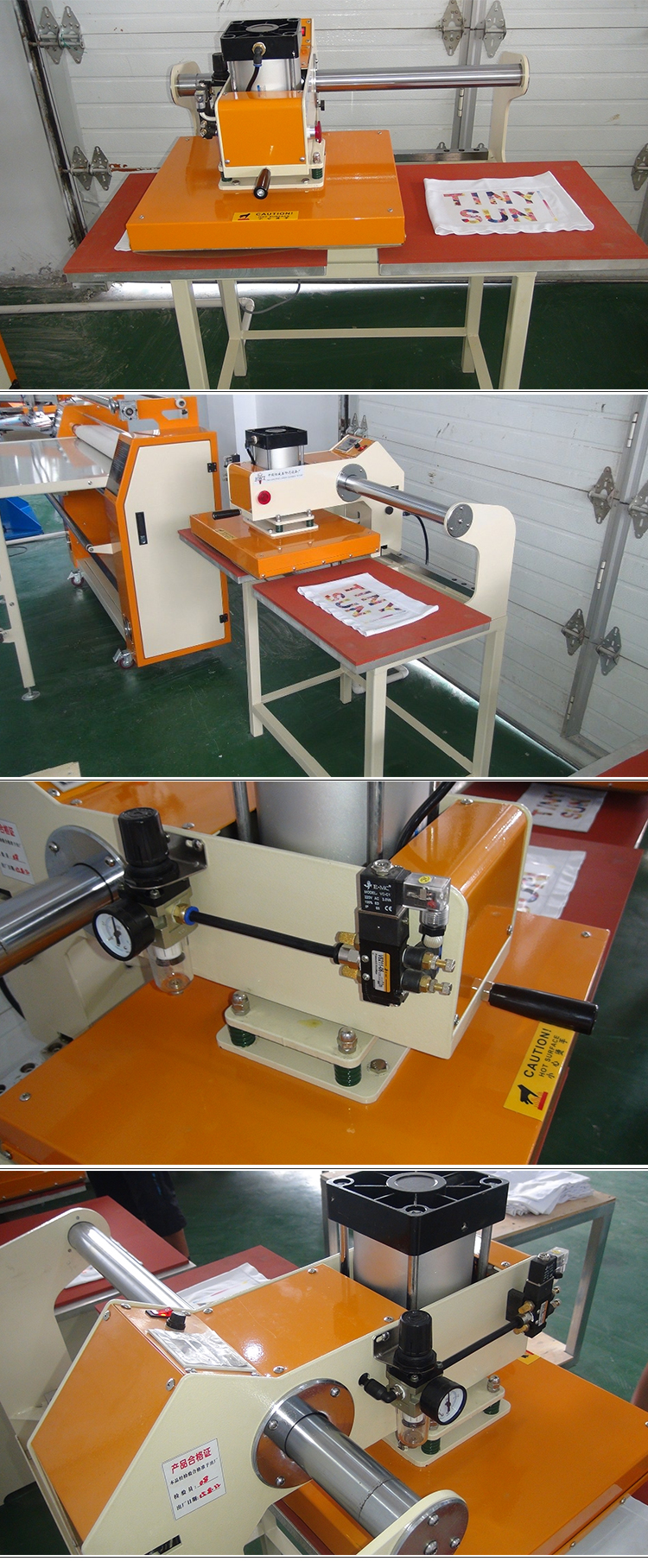 Pneumatic Driving Double Station 40*50 cm 3d Textile Fabric Heat Press Machine for Label Clothes