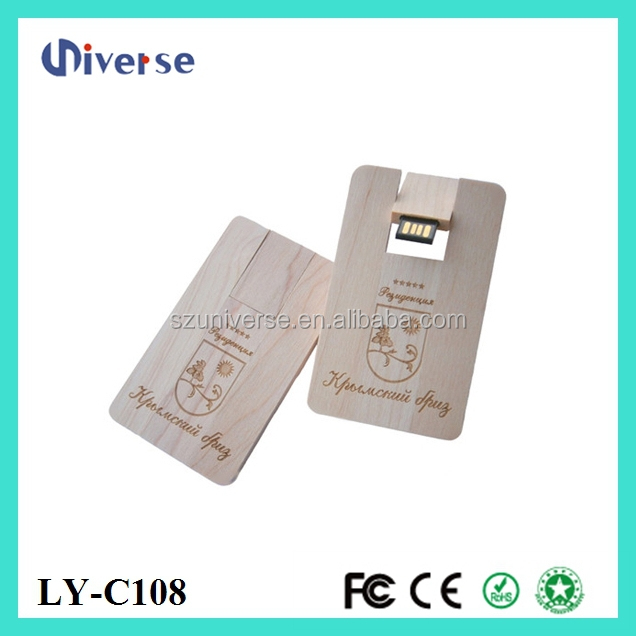 New product wooden wafer card 32gb usb flash drive 2.0 wholesale alibaba express for commercial gift