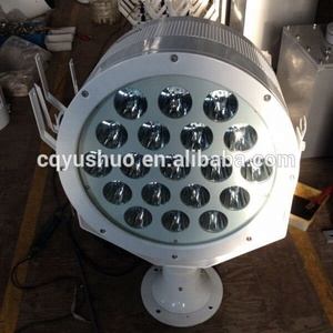 Marine Outdoor Long-Range Electric Automatic Remote Controlled High Power Stainless Steel LED Searchlight