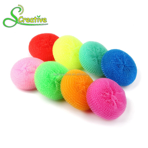 Nylon non-stick kitchen cleaning scrubber sponge plastic scourer