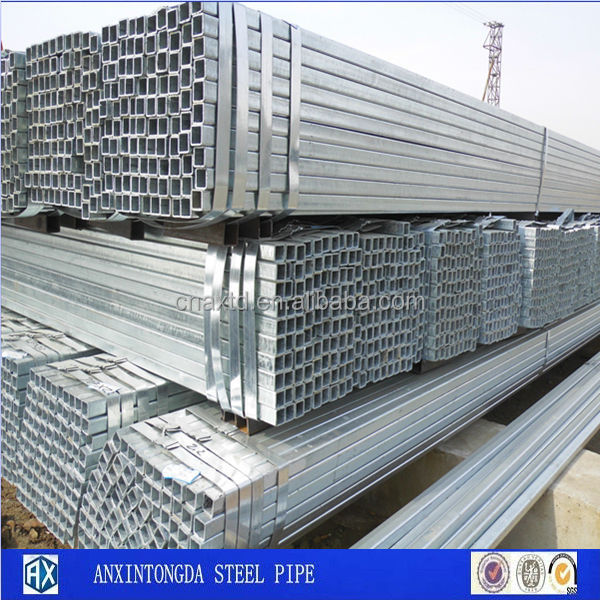 steel galvanized pipes/galvanized square steel pipe steel tube hollow section vietnam