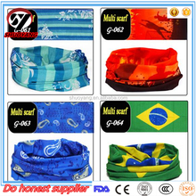 Head Wear 100 Polyester Multifunctional Biker Motorcycle colorful Scarf