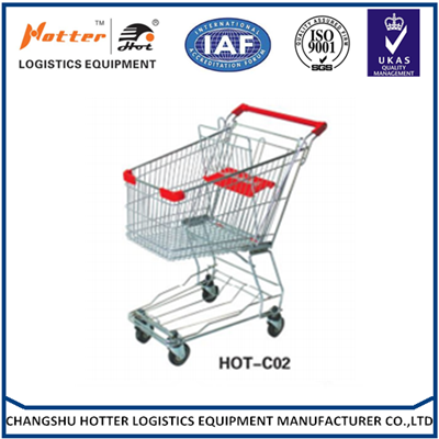 Size can choose Chrome supermarket shopping cart trolley,4 wheels shopping trolley ,grocery shopping carts for sale