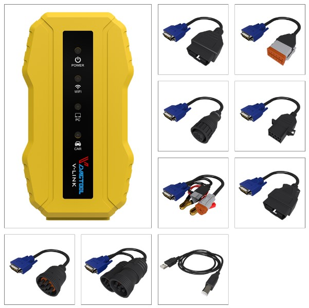 Truck Diagnostic tool Vdiagtool V-link for CAT Wifi Version for CAT3 Truck Diagnostic Tool  for truck scanner high quality