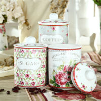 800CC Elegant New Bone China Coffee Tea Sugar Storage Container