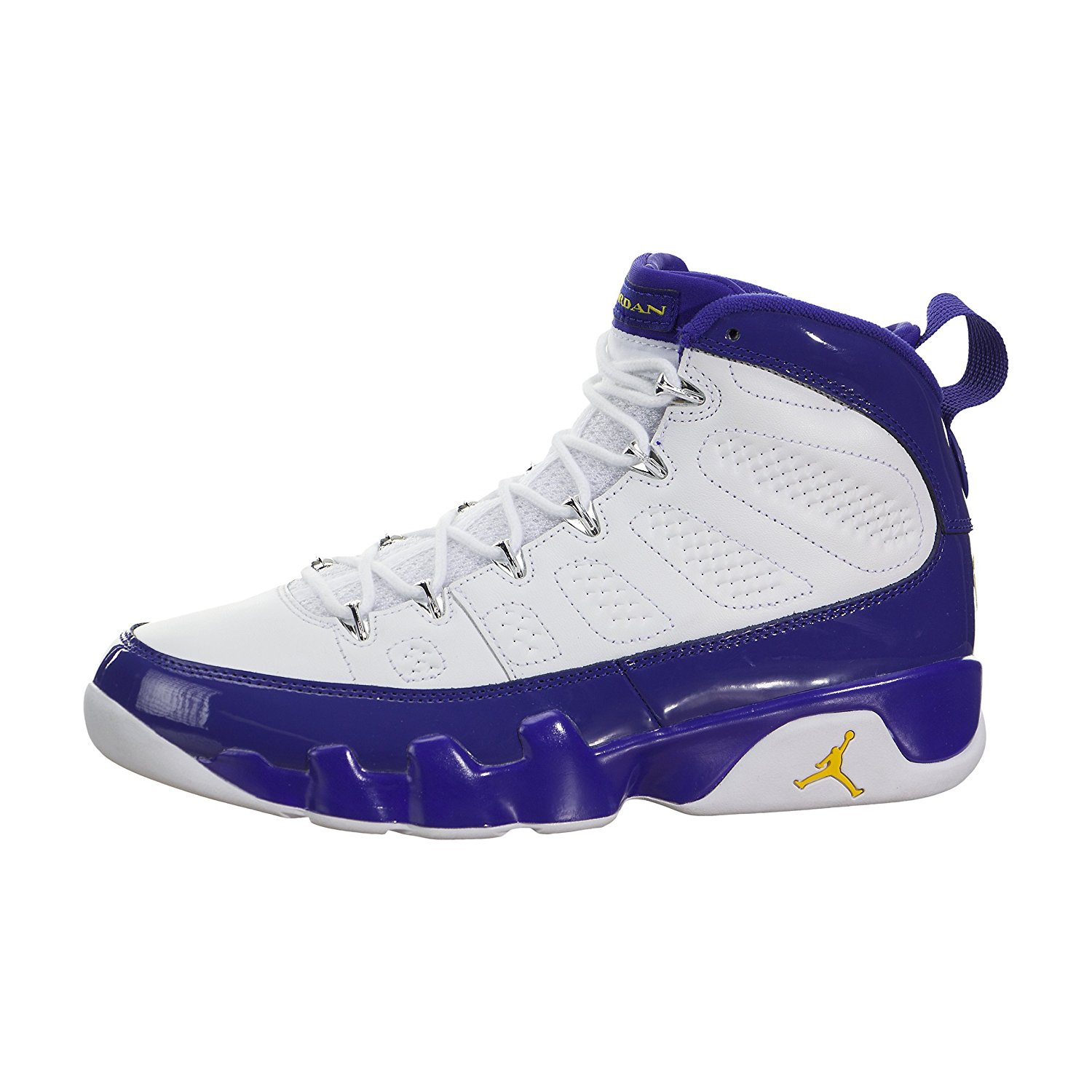 0be55a5f87d018 Buy Nike Mens Air Jordan 9 Retro White Tour Yellow-Concord Leather ...