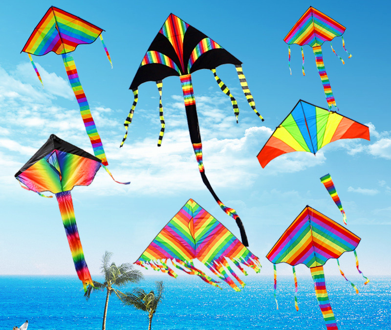 Many kinds of beautiful delta shape rainbow kite