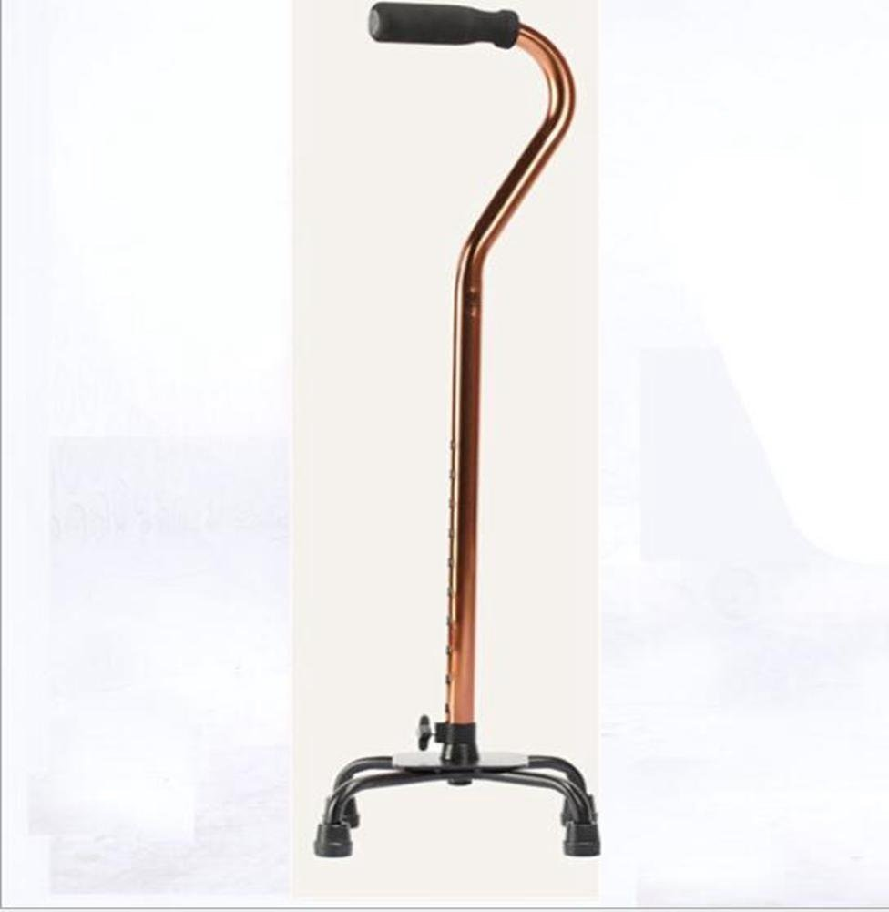 Crutches/walking stick/adjustable/stainless steel non-slip/senior quadruped walking stick