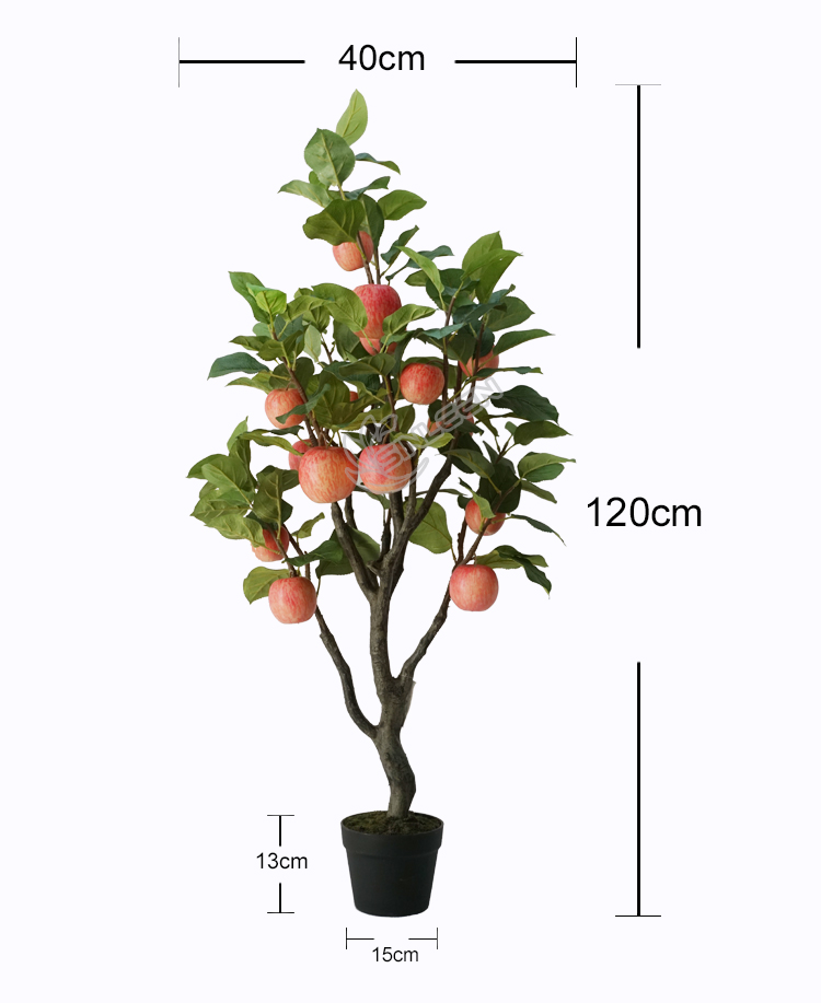 2020 Hot Sale Home Decoration Plant Plastic Make Artificial Apple Fruit Tree