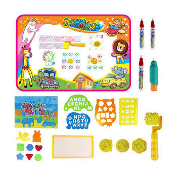 Amazon Hot Sell Children Painting Toys Writing Doodle Gift Add Water Drawing Magic Pen Aqua Magic Doodle Mat