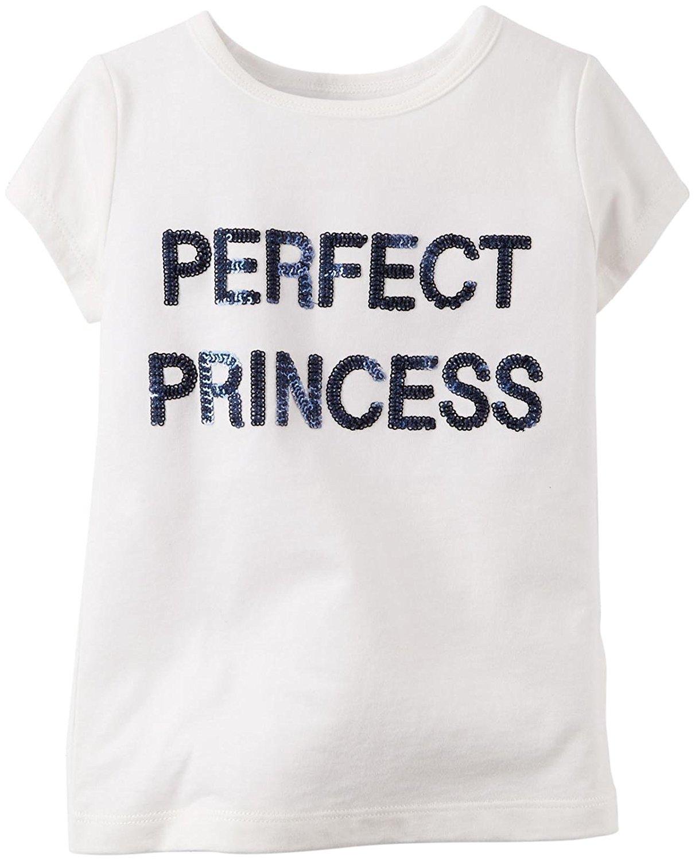 ed678cc3b83 Get Quotations · Carter s Little Girls  Slogan Top (Toddler Kid)
