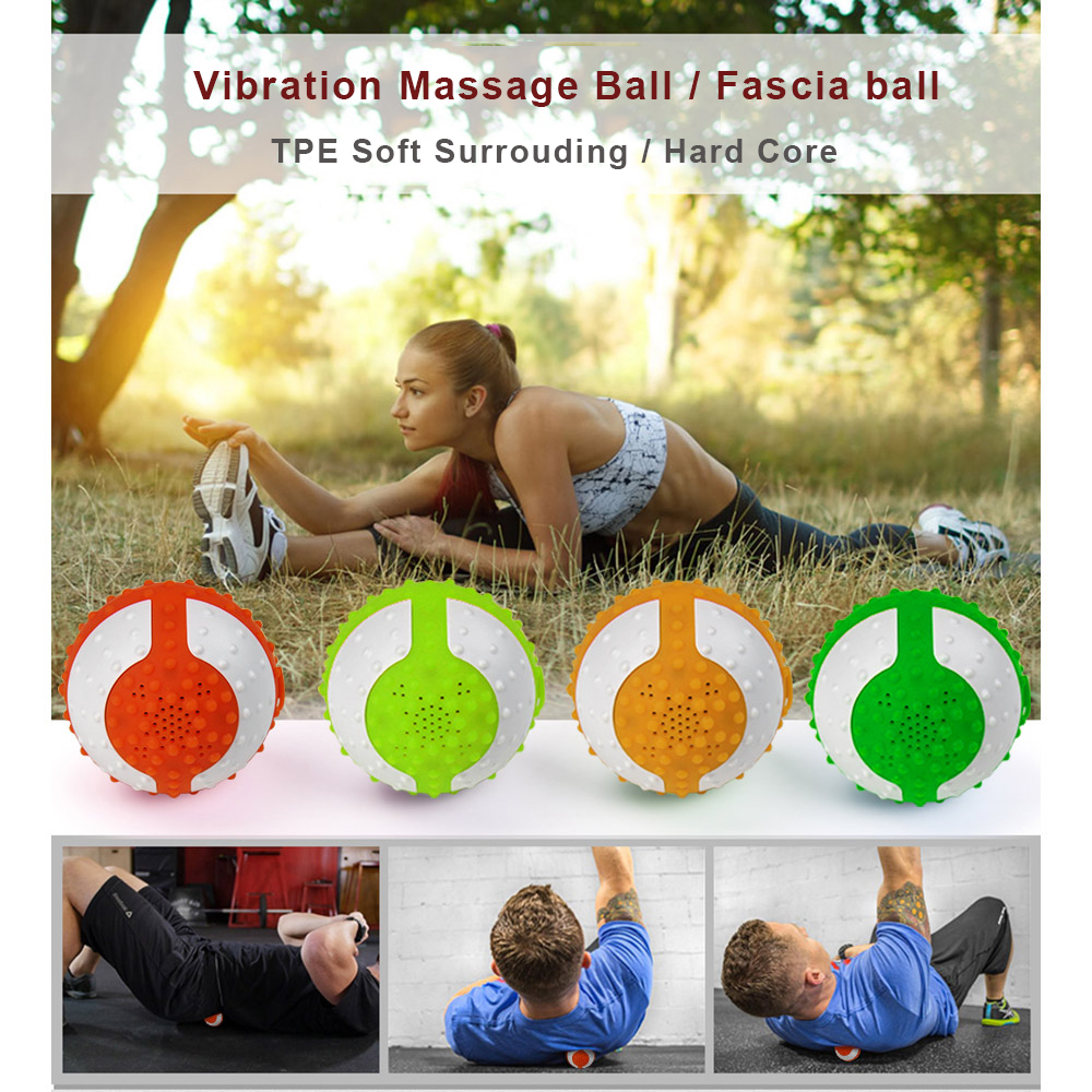 Vibration Massage Music Ball Plus Hi-Fi Wireless Speaker Bluetooths 5W Stereo Sound Myofascial Release Muscle Massage