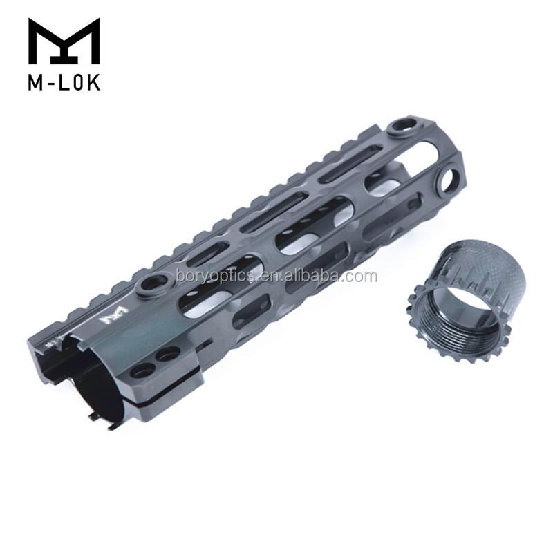 AR-15 M4 M-LOK 7 10 12 15 inch MLOK Slim Free Float Handguard Picatinny Rail Mount Bracket M-Lok handguard, Black