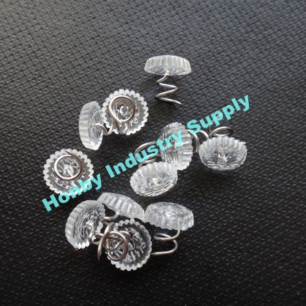Transparent 13mm Steel Twist Pins Upholstery For Ribbon Crafts Seat