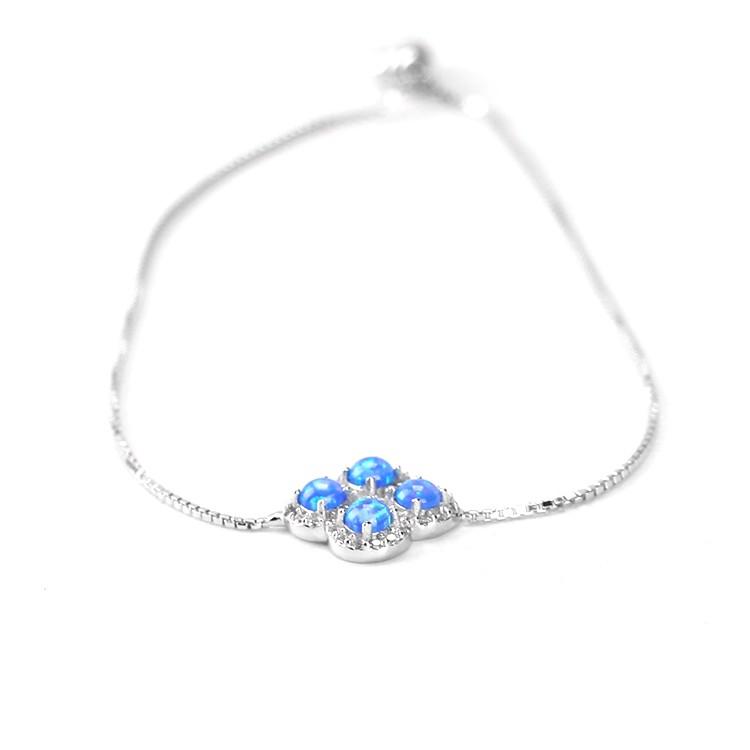 Satu Batu Desain Cincin 925 Sterling Silver Jari Wanita Batu Blue Chalcedony Batu Bulan Cincin