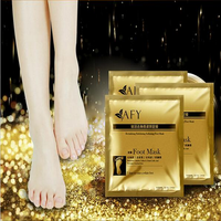 2016 Hot sale high quality 24k gold essence Moisturizing Repairing Exfoliating Disposable peeling Foot Mask