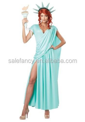 lady costume statue de la liberté déesse grecque costume fantaisie