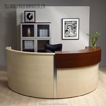 Exceptionnel Semi Circle Office Desk Reception Desk Modern Custom Size