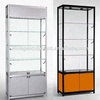 Free Freestanding Aluminum glass vitrine display showcase
