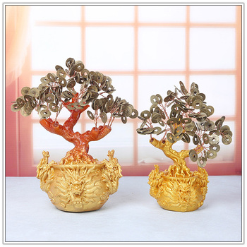 Money Bag dragon style with Chinese Coin Trees