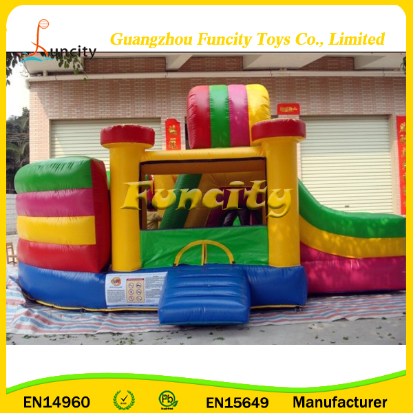 Most Popular Gender-Neutral Moonwalks, Colorful Inflatable Bouncer, Factory Prices Bouncy Castle with Slide