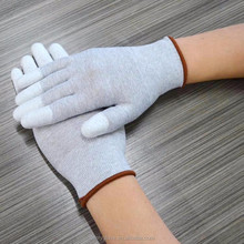 ESD PU with White Nylon Palm Fit & Top Fit Glove