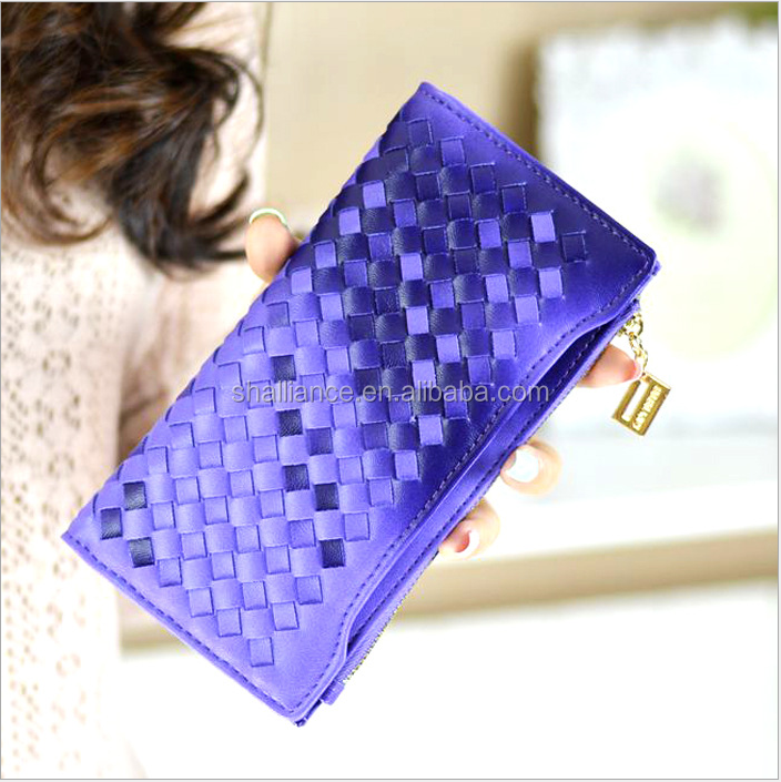 Wholesale colorful quilted casual zip cotton lady mini fashion trends wallet purses for ladies