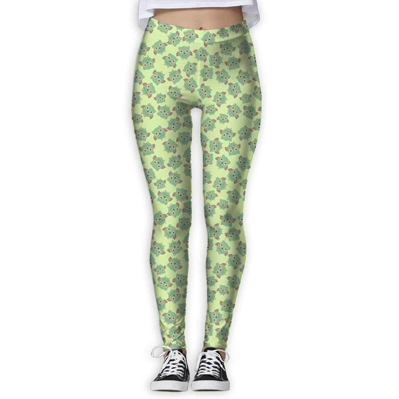 e56e57defdae0 Get Quotations · HJUCXSRT New Cartoon Owl Printing Design Compression  Leggings Pants Tights For Women S-XL