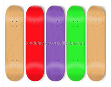 custom one wheel 100% canadian maple blank skateboard decks