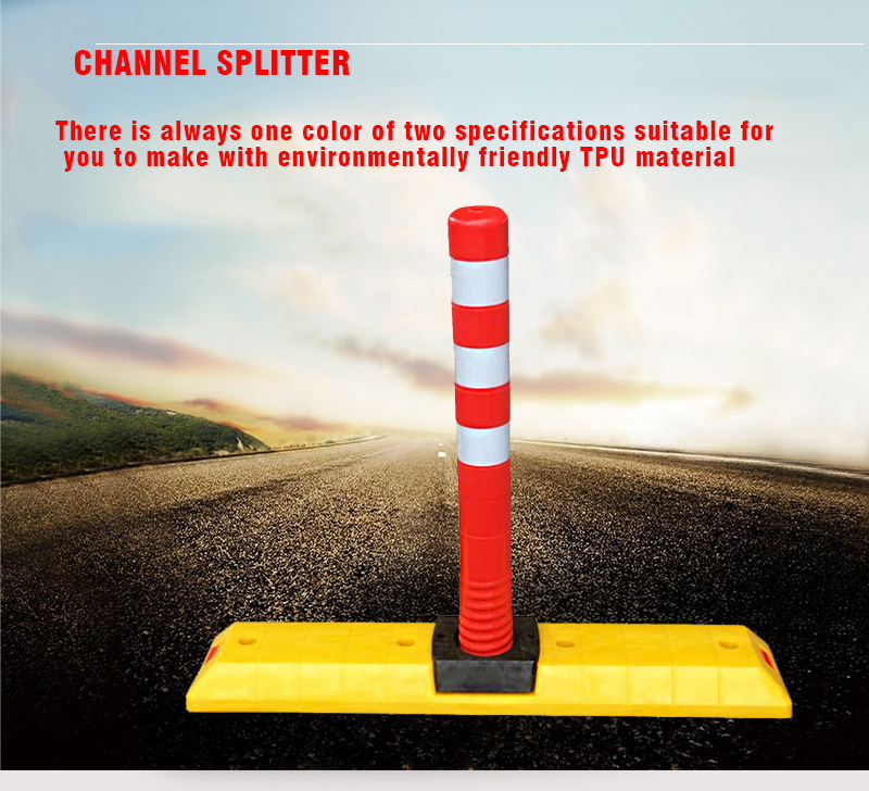 TZJT-005 High Quality TPU Materials Road Divider Extensible CE Road Separator Lane Divider With Warning Post