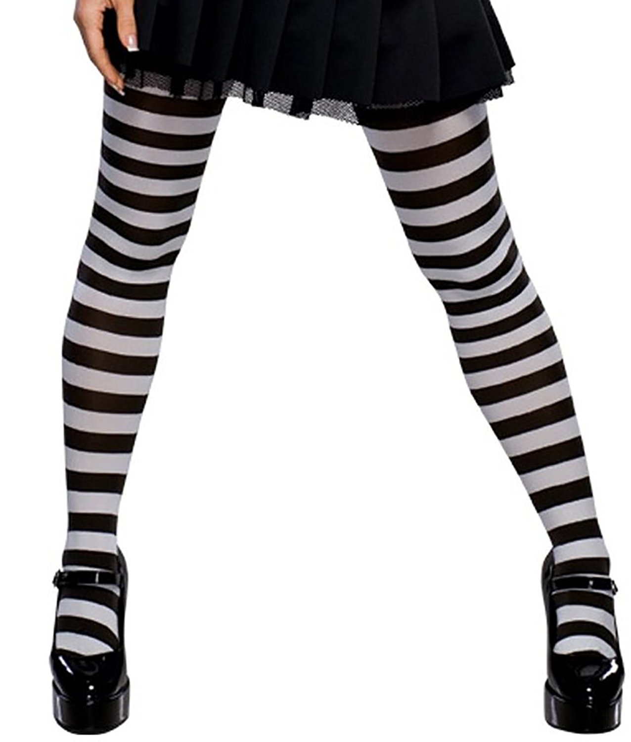 71165d2b278c8 Get Quotations · Women's Black and White Striped Tights Black White Striped  Tights Emo Tights