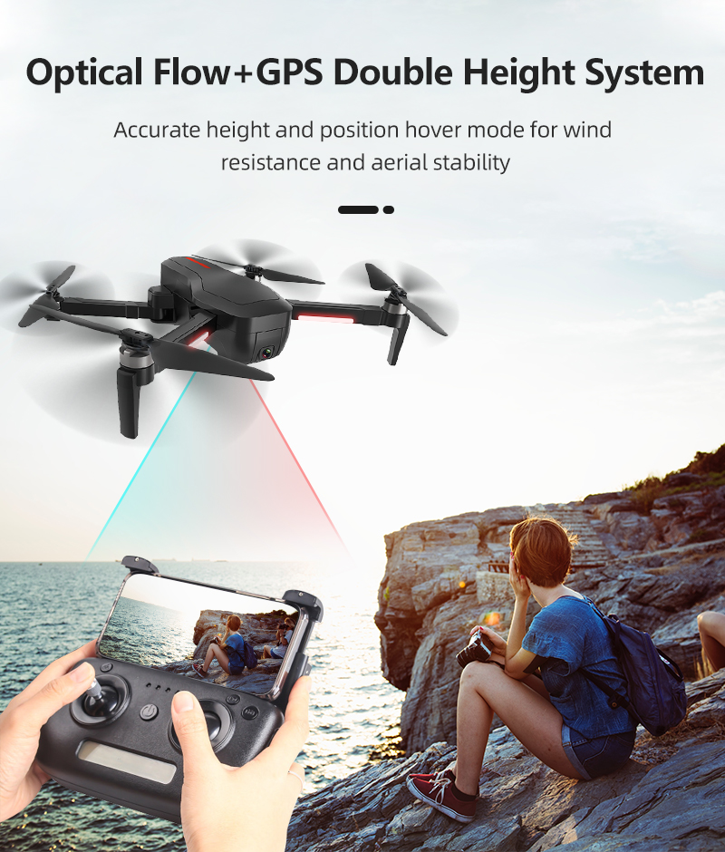 Global Drone GW198 Professional FPV Brushless drone Camera 1080P follow me long range drone with 4K camera and GPS VS b2w