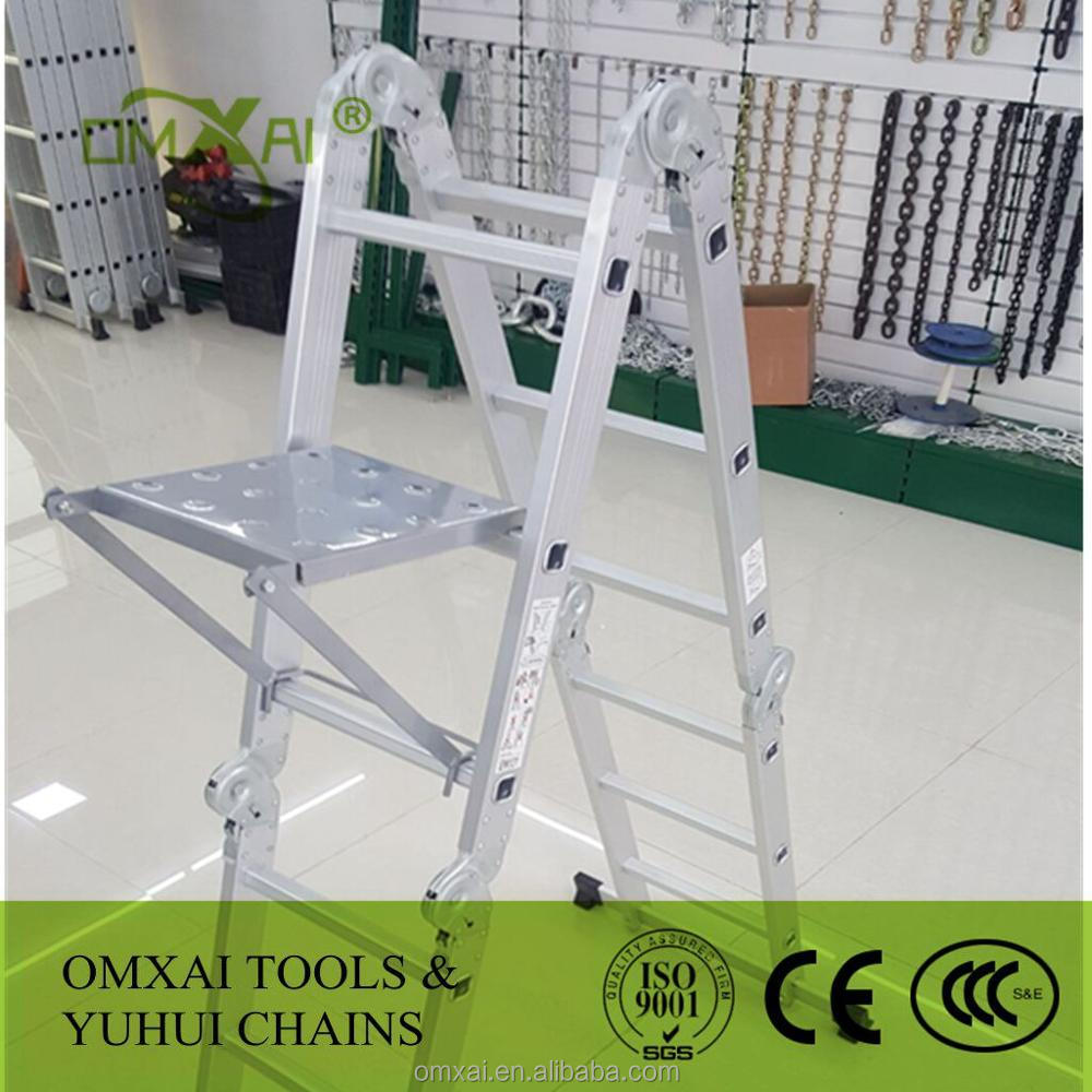 15.5ft platform Multi-Purpose Folding Aluminum Ladder EN131 Certified Multi Purpose Ladder